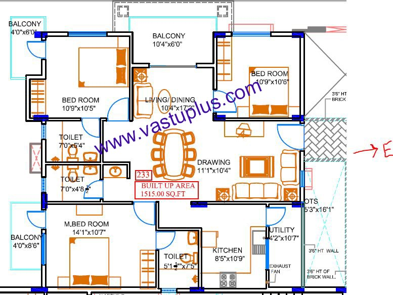 Vastu Plan Layout Office Flat Appartment Home House